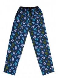 Укороченные женские брюки с рис.листочки