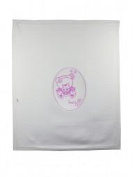 Плед детский из вязанного трикотажа 'Сладкий мишка'