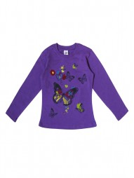 Джемпер для девочек фиолетовый1