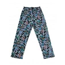 Женские брюки для дома надп.листочки