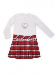 Платье для девочек комбинированное