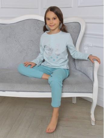 Пижама для девочек с начесом