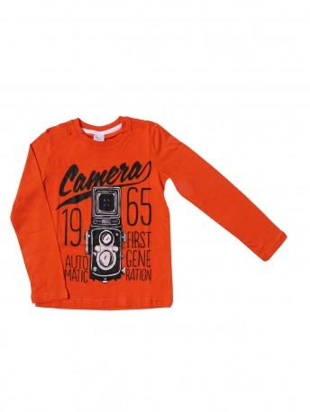 Джемпер для мальчиков оранжевый1