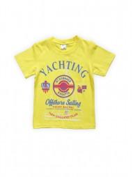 Футболка для мальчиков Желтая Yachting