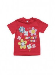 Футболка для девочек Красная Summer