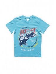 Футболка для мальчиков Бирюзовая Lucky Guy
