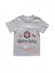 Футболка для мальчиков Светло-серая Yachting