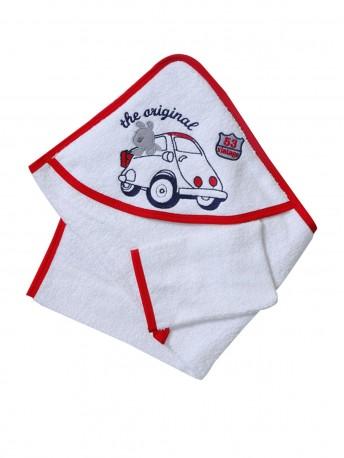 Полотенце с уголком + рукавичка