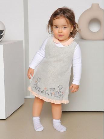 Платье велюровое, с кофточкой