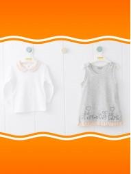 *Под заказ* Комплект для девочек (платье+кофта)