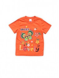 Футболка для девочек Оранжевая Sweet
