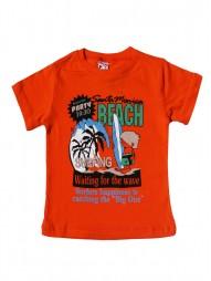 Футболка для мальчиков с надписью BEACH
