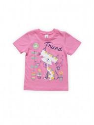 Футболка для девочек Розовая Friend