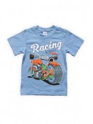 Футболка для мальчиков Голубая Racing