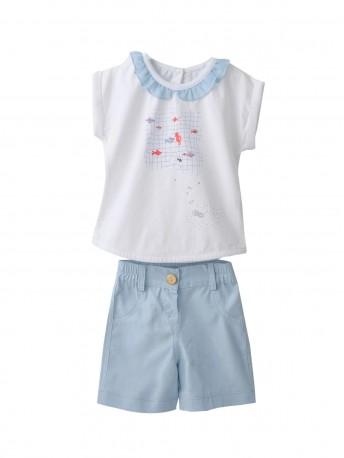 Комплект для девочек (шорты текстильные)