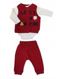 Комплект тройка для мальчиков (жилет, боди и штанишки)