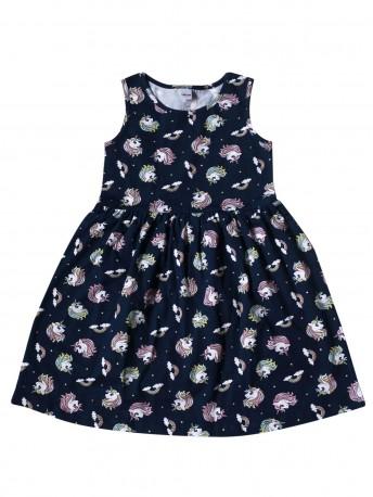 Платье детское c рисунком единороги
