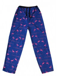 Укороченные женские брюки с рис.фламинго
