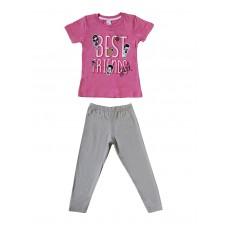 Комплект для девочек розовый2