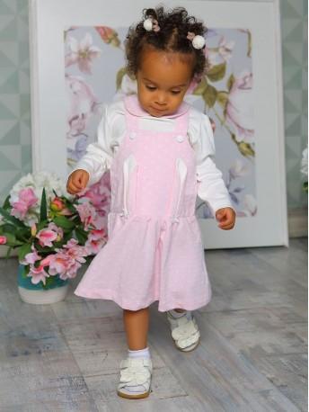 Комплект для девочек (платье, кофта)