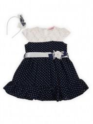 Нарядное платье на подкладке с ободком