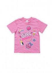 Футболка для девочек Розовая Girl
