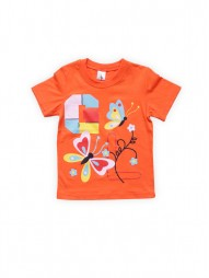 Футболка для девочек Оранжевая Бабочки