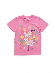Футболка для девочек Розовая