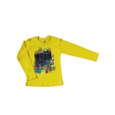 Джемпер для девочек желтый2