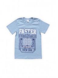 Футболка для мальчиков Голубая Faster
