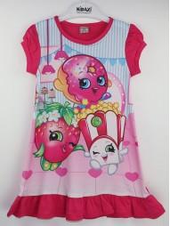 Платье летнее с короткими рукавами 'Весёлые пончики'